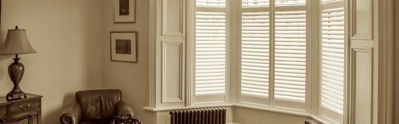 Bay window shutters from Shutterstyle
