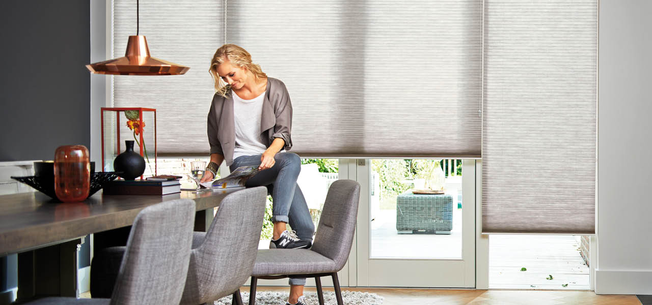 Soft Grey Duette Blinds from Shutterstyle
